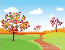 Seasonal Clipart- nature-scene-trees-fall-foliage-clipart ...