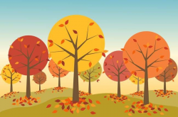 Printable Fall Scenes fall clipart autumn scene pencil and in color ...