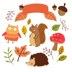 Free Critter Autumn Planner Stickers and Clip Art! - Free Pretty ...
