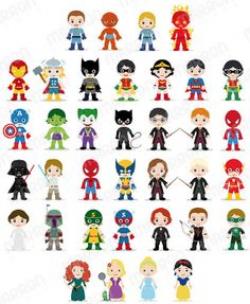 Superhero Avenger Kids Boy PDF PNG Clip Art Digital File   Kids ...