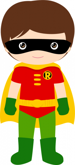 Characters of Batman Kids Version Clip Art. | Super hero | Pinterest ...