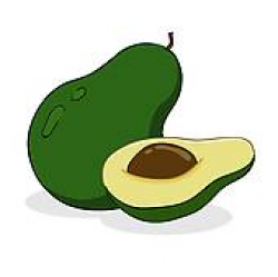 Avocado Clip Art - Royalty Free - GoGraph