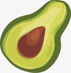 Avocado Vector Decorative Elements, Avocado, Decoration, Vector PNG ...