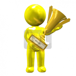 Person Holding Award Cup Animated Clipart, PowerPoint Animation ...