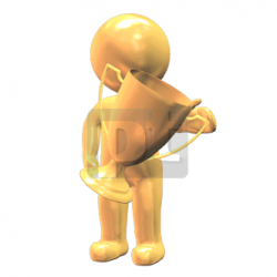 Winner with Award Cup Animated Clipart, PowerPoint Animation | 00532 ...