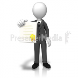 Man With Award Document - Signs and Symbols - Great Clipart for ...