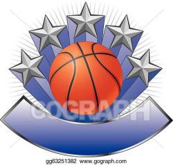 Vector Art - Basketball design emblem award. Clipart Drawing ...