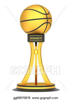 Stock Illustration - Award basketball trophy cup. Clipart Drawing ...
