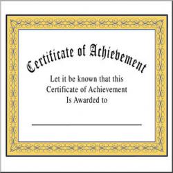 Clip Art: Certificate of Achievement Color I abcteach.com | abcteach