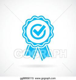 Vector Art - Honour award emblem. EPS clipart gg88956115 - GoGraph