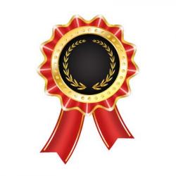 Free Glossy Award Badge with Ribbon Clipart and Vector Graphics ...