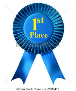 first place ribbon clipart first place ribbon blue ribbon award with ...