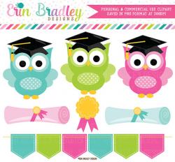 80% OFF SALE Graduation Clipart School Owls Graduation Clip Art ...