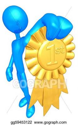 Stock Illustration - 1st place gold ribbon award. Clipart gg59453122 ...
