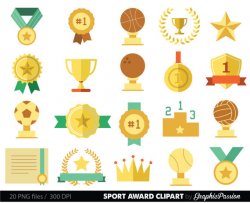 sports clipart racing prizes flags digital paper stars medals trophy ...