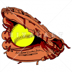 Sports Clipart Image of Softball Glove In Color http://www.rivalart ...