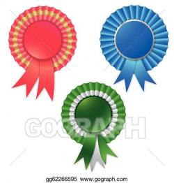 Vector Clipart - Blank award ribbon rosette for winner. Vector ...