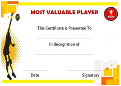 19 best Volleyball certificates free printables images on Pinterest ...