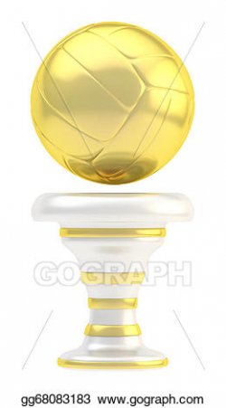 Clipart - Award volleyball sport trophy cup. Stock Illustration ...