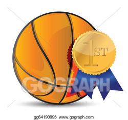 Vector Art - Basketball ball with award. Clipart Drawing gg64190995 ...