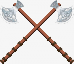 Two Axes Cross, Two, Ax, Ancient Weapons PNG Image and Clipart for ...