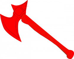 Red Battle Axe Clip Art at Clker.com - vector clip art online ...