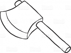 Axe Clipart Black And White - Letters