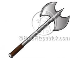 Battle Axe Clip Art | Battle Axe Graphics | Clipart Battle Axe Icon ...