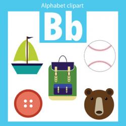 Alphabet clip art letter B Beginning sounds by ThinkingCaterpillars