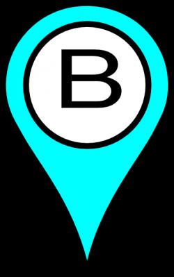 Blue Pin B Clip Art at Clker.com - vector clip art online, royalty ...