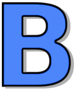 capitol B blue - /signs_symbol/alphabets_numbers/outlined_alphabet ...