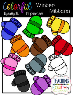 Colorful Mittens Free Clipart by Kelly B by Kelly Benefield | TpT