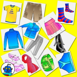 Clip Art for Clothing and Accessories - Color and b/w png files. by ...