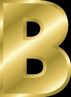 Clipart - Effect Letters alphabet gold