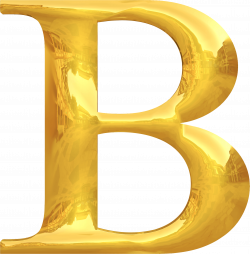Clipart - Gold typography B