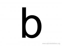 Lowercase Letter B Clipart - Letter Master