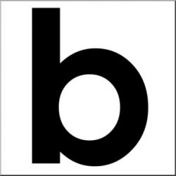 Clip Art: Alphabet Set 00: B Lower Case BW I abcteach.com   abcteach
