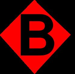Red Diamond B Clip Art at Clker.com - vector clip art online ...