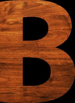 Clipart - Wood texture alphabet B