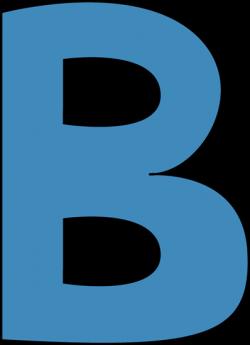 B clipart blue alphabet letter b clip art blue alphabet letter b ...