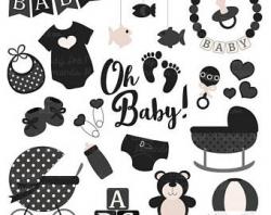 Black baby shower | Etsy