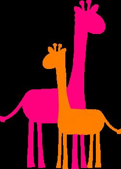 giraffe caricature | Mother And Baby Giraffe Sillouette clip art ...