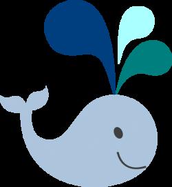 Baby Whale Clip Art | little light blue whale clip art | baby shower ...
