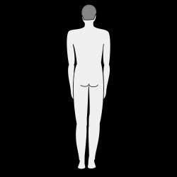 Clipart - Male body silhouette - back