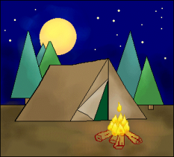 Tent Clipart Night Time Free collection | Download and share Tent ...