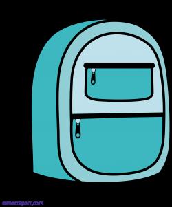 Blue School Backpack Clipart - Sweet Clip Art