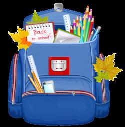 Blue School Backpack PNG Clipart | Graphics | Pinterest | School ...