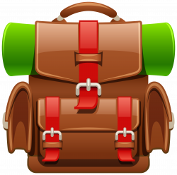 Brown Tourist Backpack PNG Clipart Image | Gallery Yopriceville ...