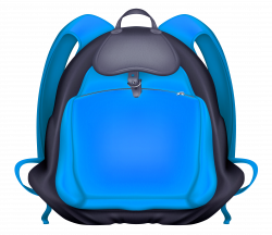 Blue Backpack Transparent PNG Clipart | Gallery Yopriceville - High ...