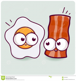 Bacon Cute Clipart